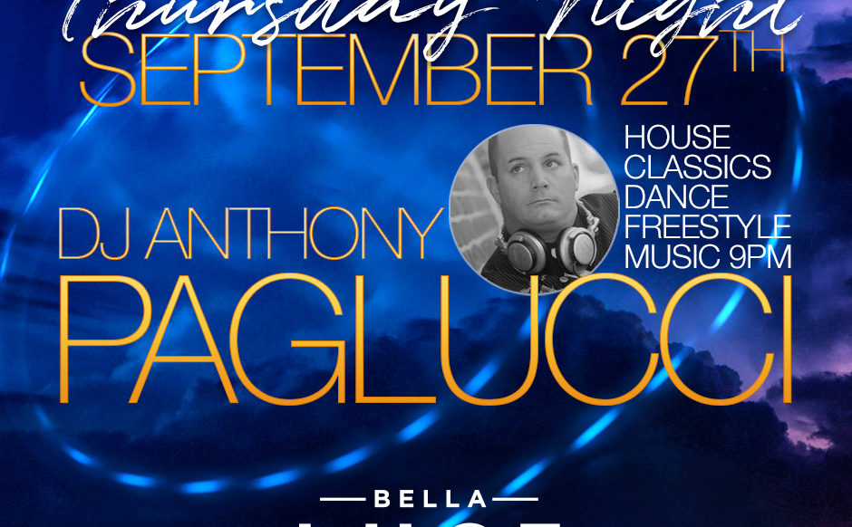 DJ Anthony Paglucci - September 27th, 2018