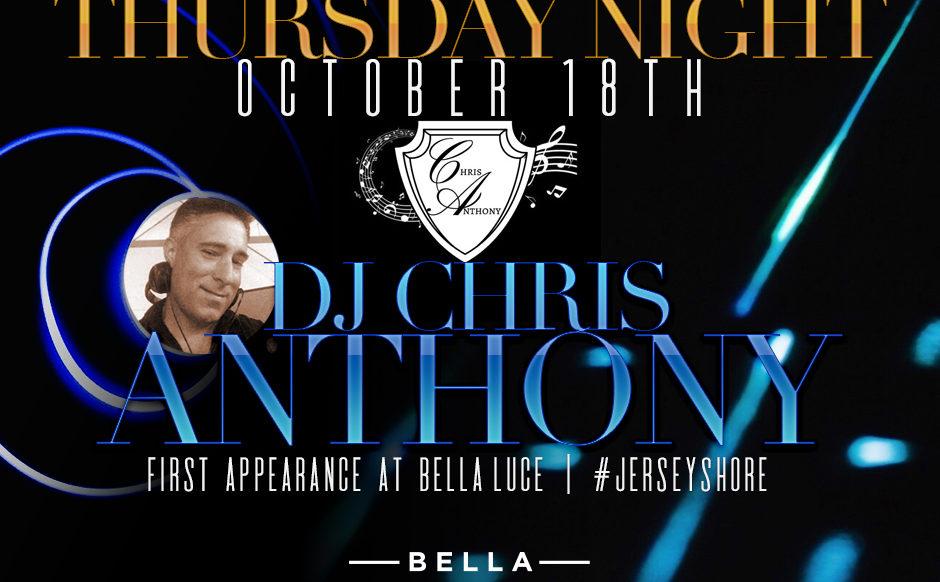 DJ Chris Anthony October 18th, 2018