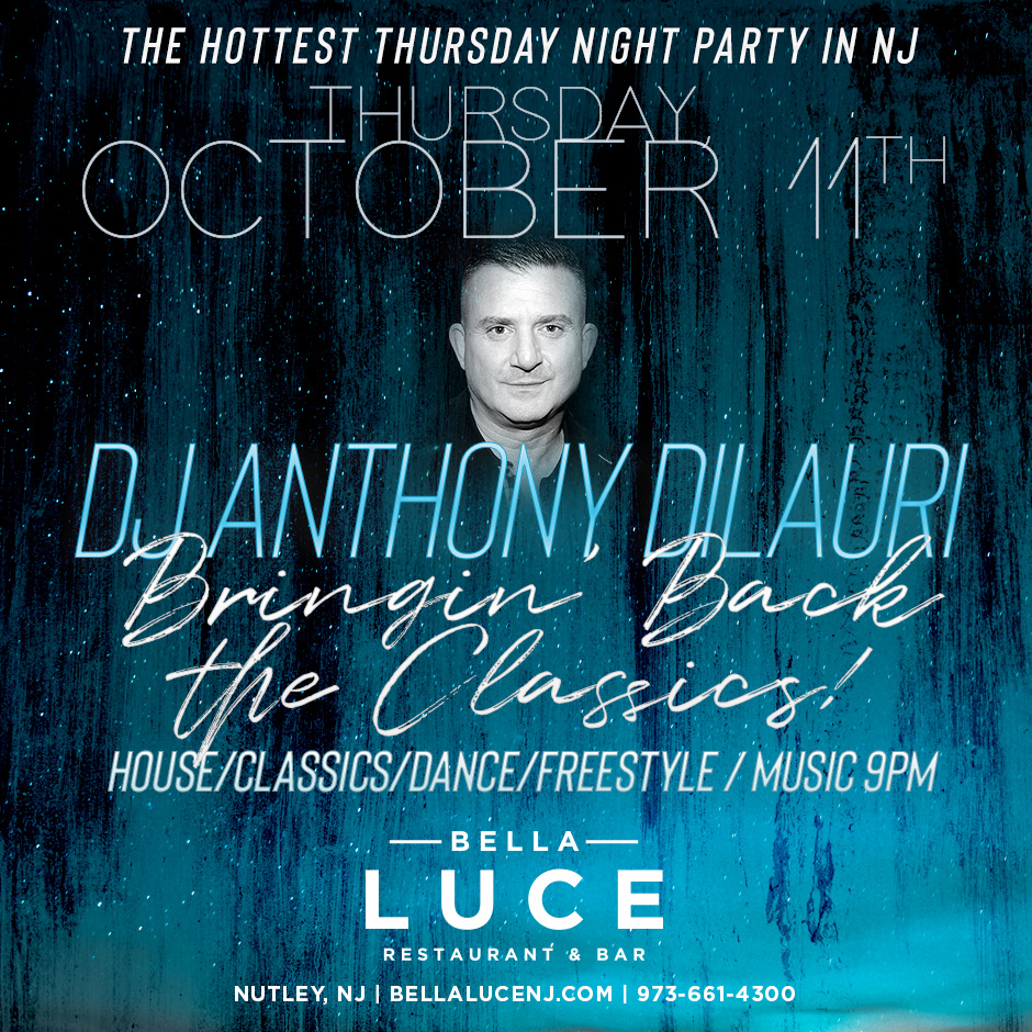 DJ Anthony DiLauri October 11th, 2018