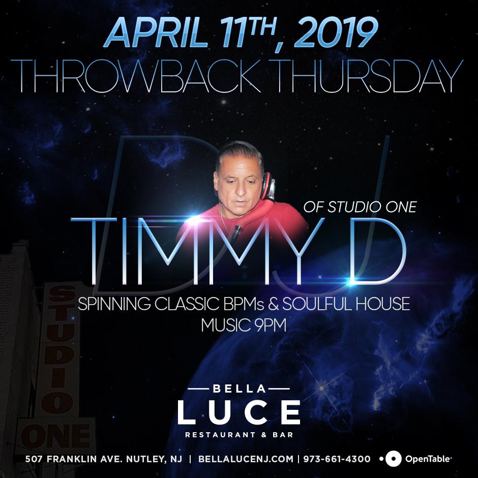 DJ Timmy D - April 11th, 2019
