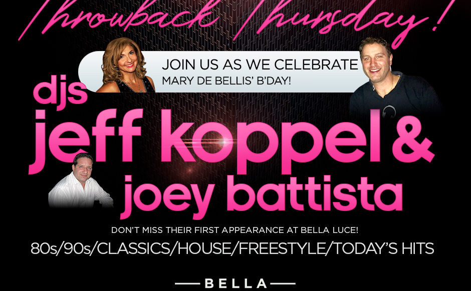DJs Jeff Koppel & Joey Battista - Sep 12th at Bella Luce