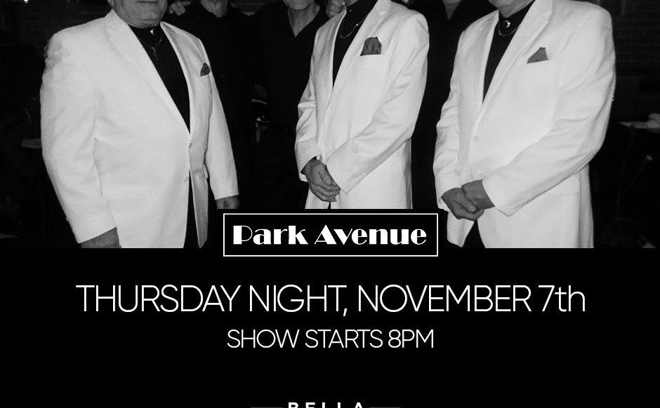 Park Ave Band Thursday November 7th, 2019