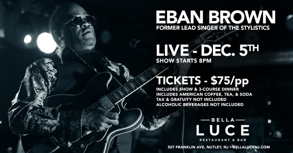 Eban Brown Performing Live on December 5th, 2019